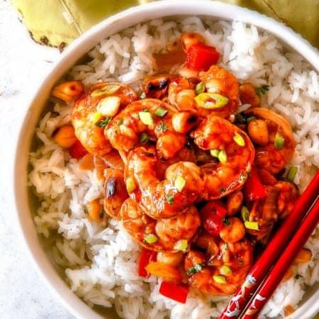 Kung Pao Shrimp (30 minutes!)