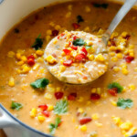 30 Minute Mexican Chicken Corn Chowder (lightened up)