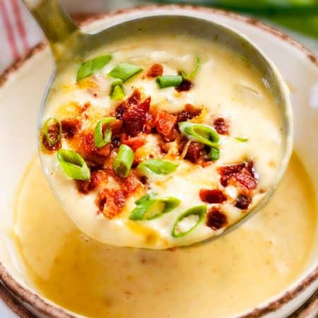 Skinny Slow Cooker Potato Soup