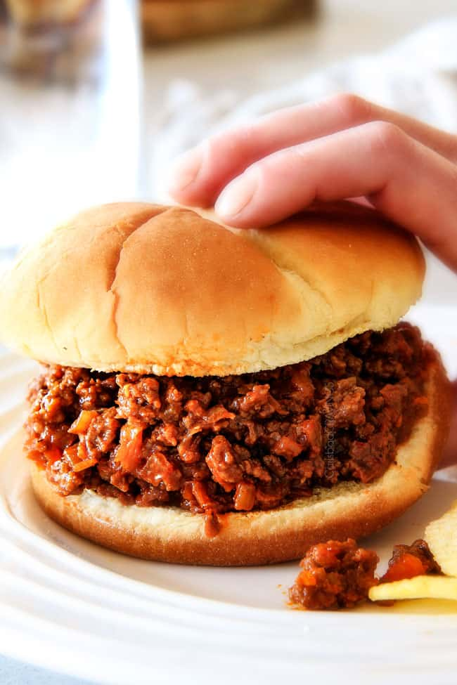 30 Minute Hawaiian Sloppy Joes smothered in the most delicious sweet and tangy Hawaiian BBQ Sauce your whole family will love! Incredibly easy, make ahead and great for crowds!
