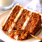 This is the BEST Carrot Cake Recipe, I will never make another recipe again! ! Super moist without being oily, spiced perfectly, and the Pineapple Cream Cheese Frosting is incredible! Brought this to a party and everyone was BEGGING me for the recipe!