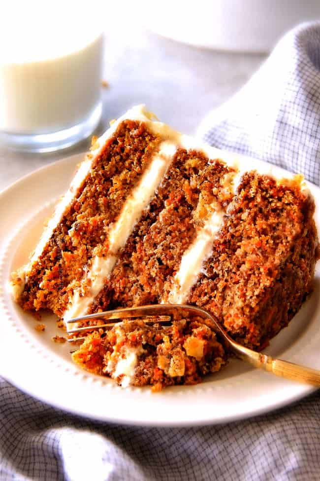 Carrot Cake With Pineapple Cream Cheese Frosting Save Print Recipe
