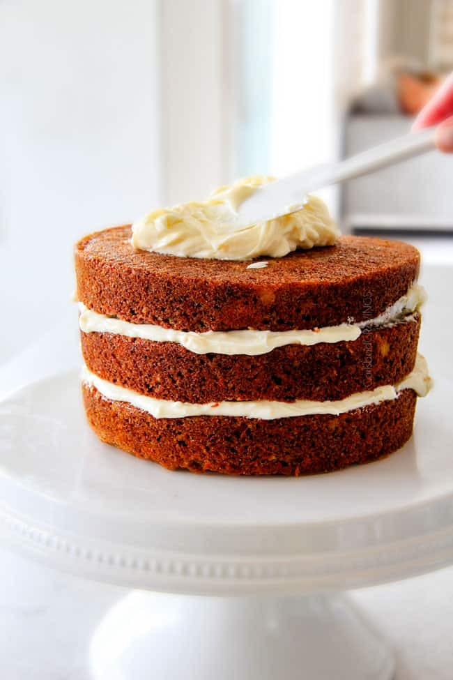 Layered Carrot Cake with Pineapple Cream Cheese Frosting - T..