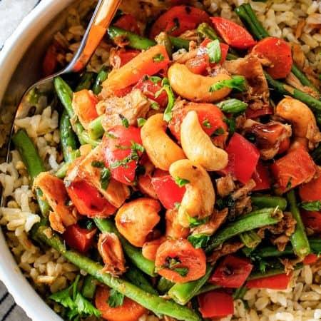 20 Minute Honey Balsamic Tuna Veggie Bowls
