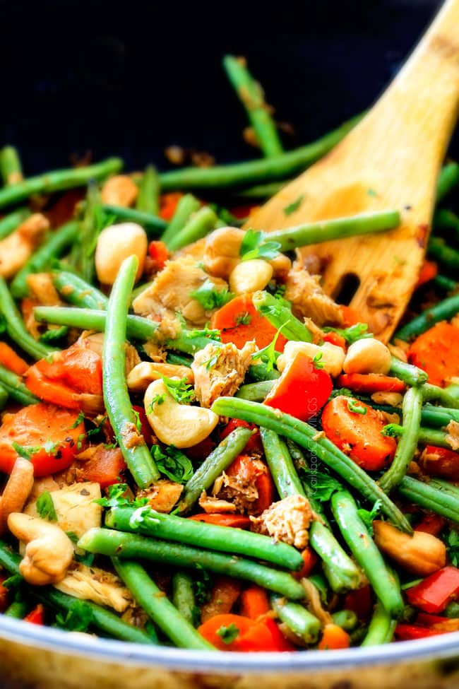 Tuna Veggie Bowls with green beans.