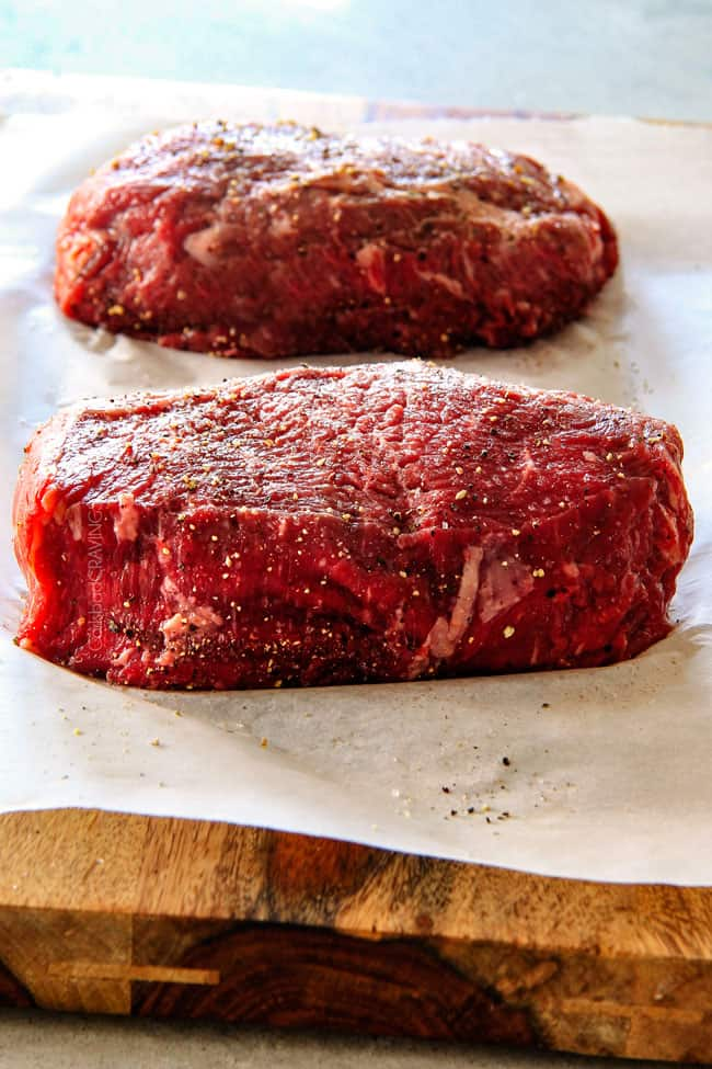 Easy Pan Seared Steak with a deeply caramelized seared crust and the ...