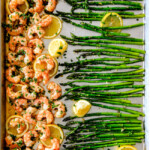 Roasted Lemon Butter Garlic Shrimp and Asparagus