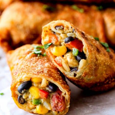 Crispy Southwest Egg Rolls with Chicken, Cheese and Avocado