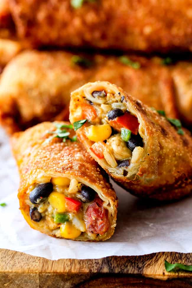Crispy Baked Or Fried Southwest Egg Rolls With Chicken And