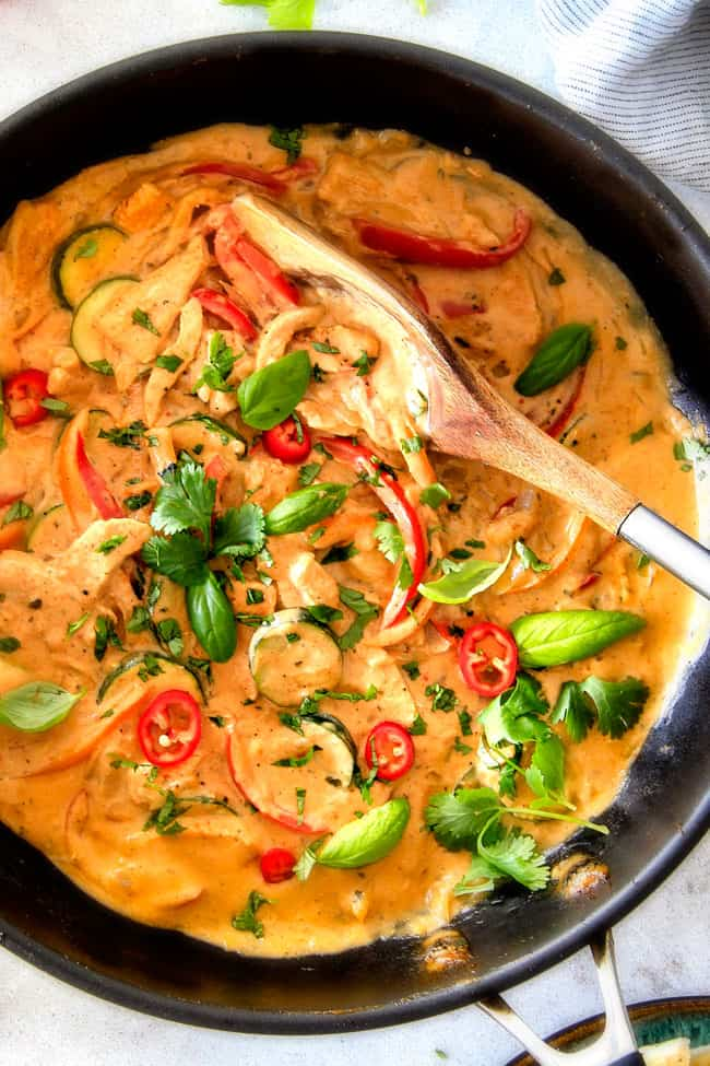 thai red curry chicken and vegetables carlsbad cravings