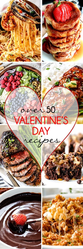Over 50 of the BEST Valentine's Day Recipes from appetizers, and sides to entrees and desserts all in ONE place! You are guaranteed to find a the most delicious recipes to make your Valentine's the best ever!