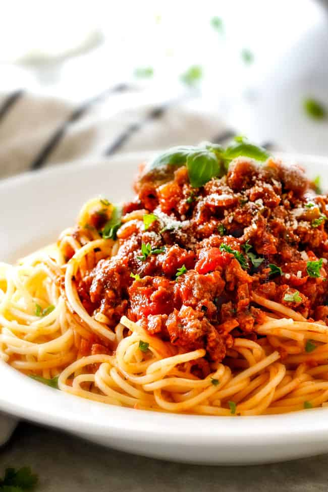 30 Minute Weeknight Spaghetti Bolognese | Carlsbad Cravings
