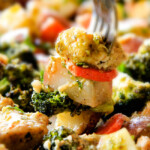 Sheet Pan Parmesan Pesto Chicken with Potatoes, Broccoli and Carrots
