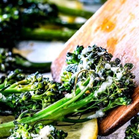 Roasted Parmesan Lemon Garlic Broccoli (or Broccolini)