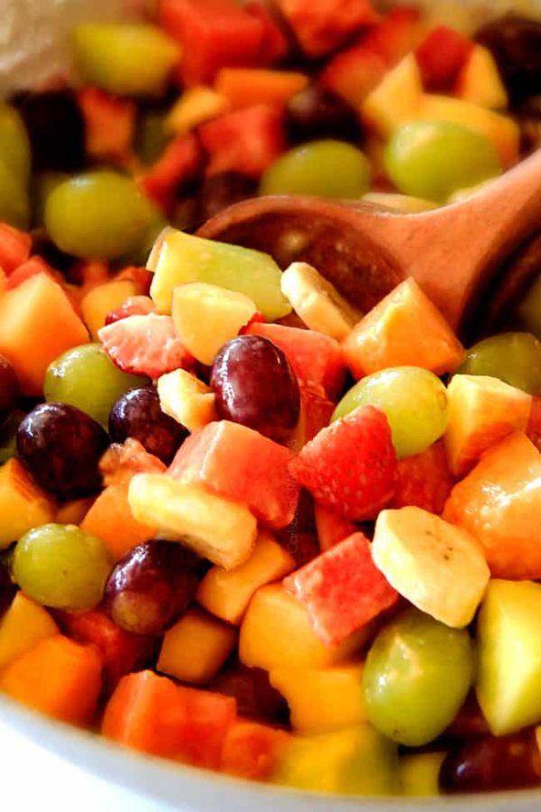 how to make a melon fruit salad