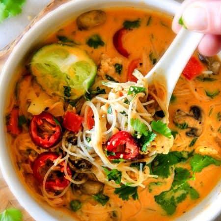 One Pot Thai Chicken Noodle Soup (Video!)