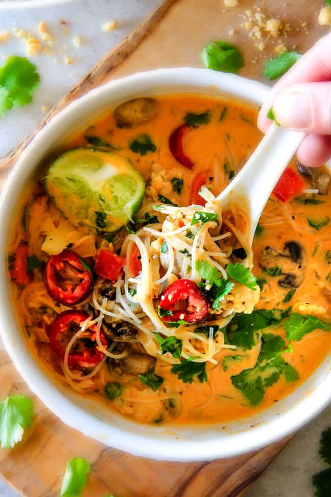 Easy one pot thai chicken noodle soup video forumfinder
