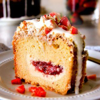 Cream Cheese Coffee Cake (with strawberries!)