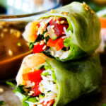 Fresh Shrimp Spring Rolls with Pineapple Hoisin Peanut Sauce