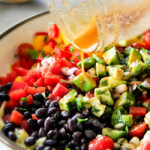 Southwest Orzo Salad with Chipotle Honey Lime Vinaigrette (Video)