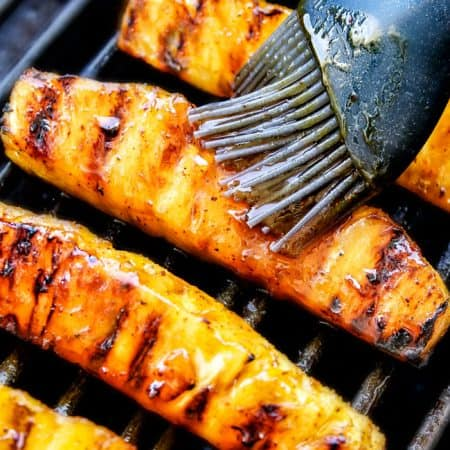 Caramelized Grilled Pineapple with Brown Sugar Orange Glaze
