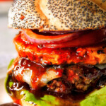 Hawaiian Burgers with Sriracha Mayo