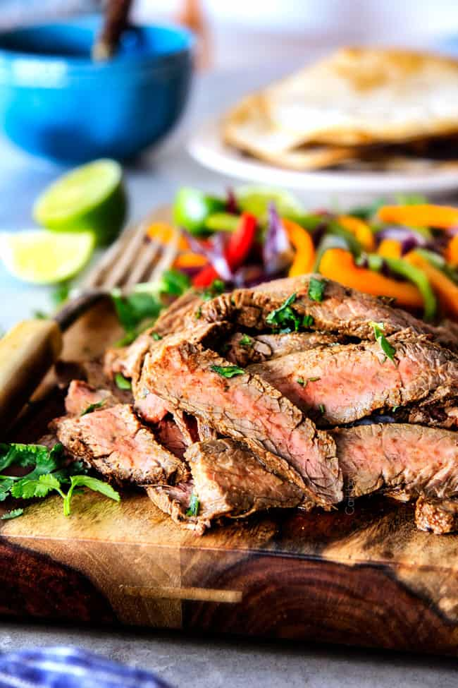 BEST EVER Grilled Steak Fajitas! (marinated & spice rubbed!)