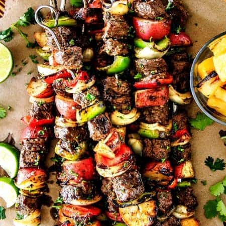 Brazilian Steak Kabobs with Potatoes (VIDEO!)