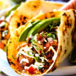 Honey Chipotle Chicken Tacos with BLT Slaw and Cilantro Lime Crema (& Video!)