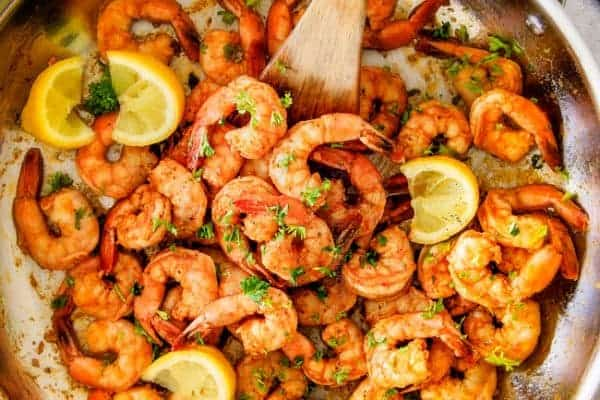 Old Bay Shrimp with Homemade Cocktail Sauce (Grill or Stove Top)
