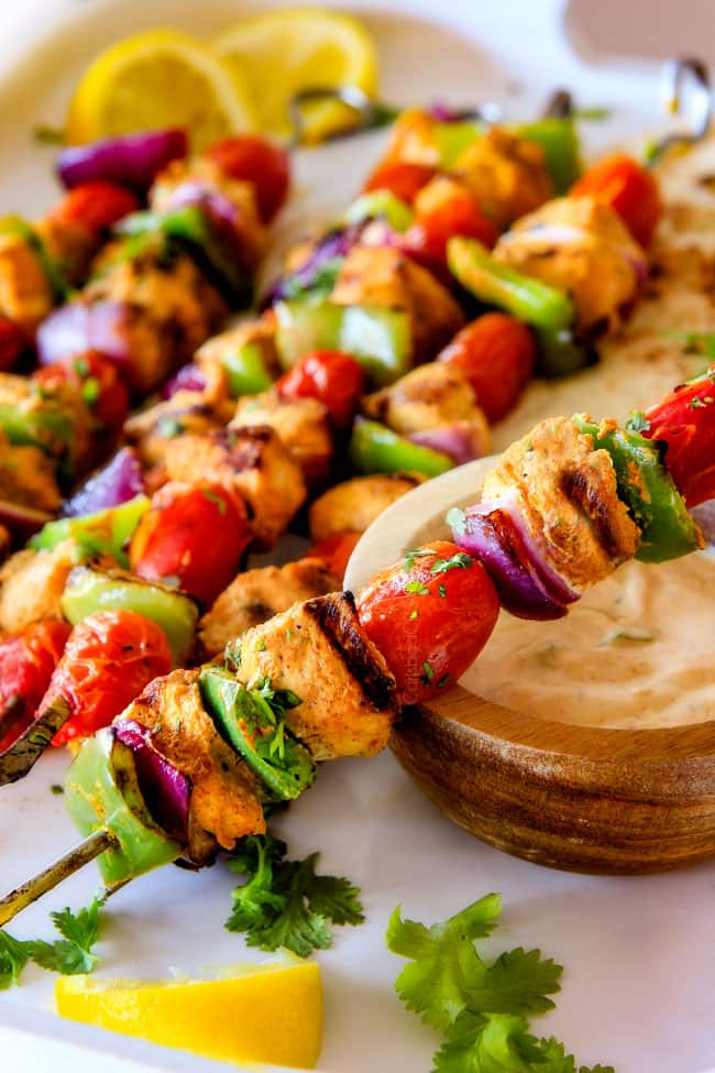 Tandoori Chicken Kabobs With Video