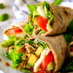 15 Minute Avocado Caprese Chicken Wraps (VIDEO)