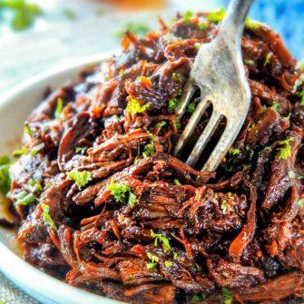 Balsamic Slow Cooker Roast Beef (Video!)