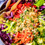Crunchy Asian Salad with Sriracha Peanut Dressing