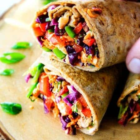 25 Minute Chinese Chicken Salad Wraps (VIDEO)