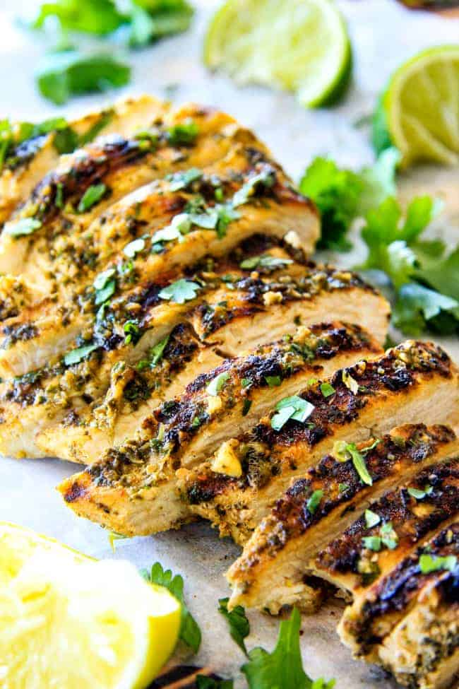 Sliced Cilantro Lime Chicken.