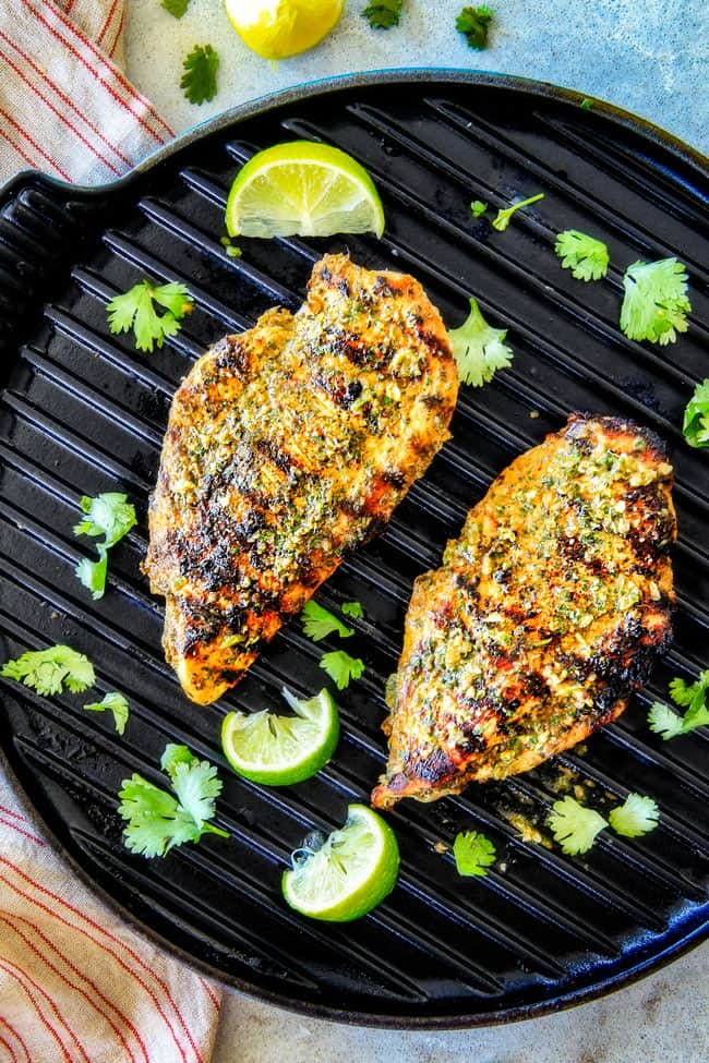 Cilantro Lime Chicken on the skillet.