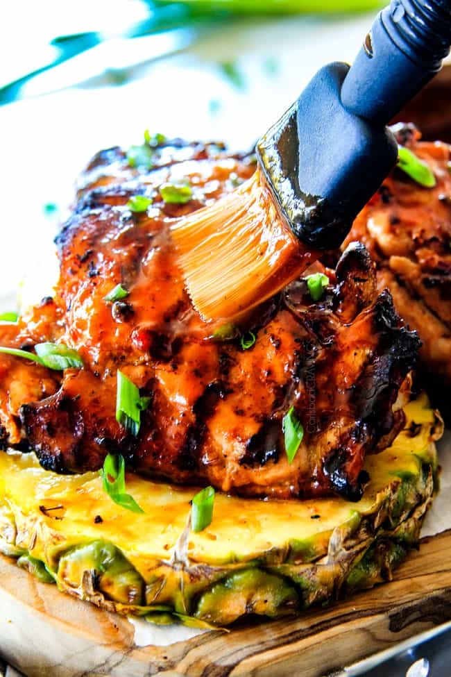 Juicy, smokey, sweet and tangy, Mesquite PineappleBBQ Chicken smothered in the most wonderful homemade Pineapple BBQ sauce is irresistibly delicious and couldn't be easier!