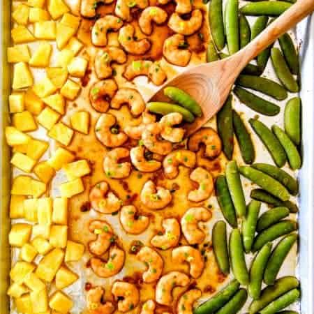 Sheet Pan Teriyaki Shrimp, Pineapple & Snap Peas