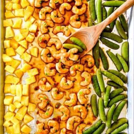 Sheet Pan Teriyaki Shrimp, Pineapple & Snap Peas