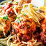Cheesy Baked Italian Meatballs