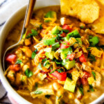 Slow Cooker Creamy White Chicken Chili (Lightened Up!)