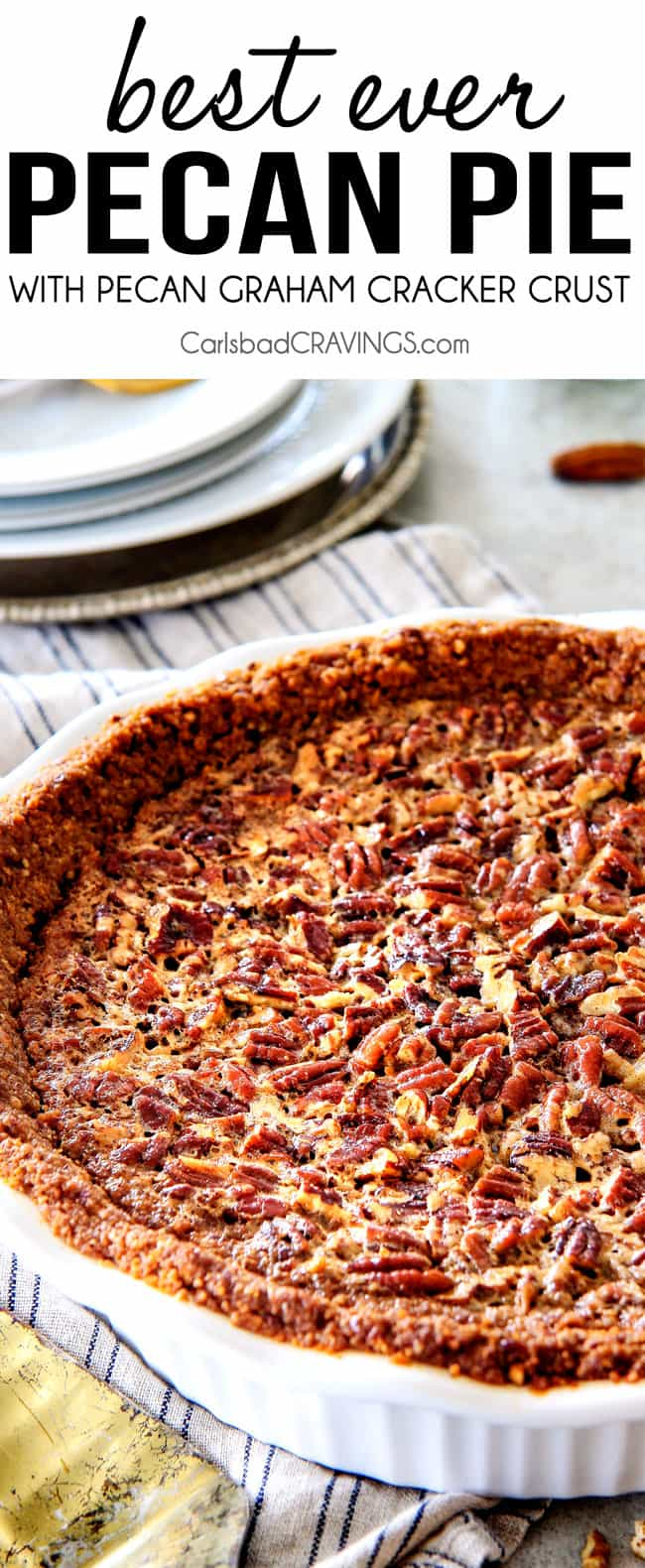 Pecan Pie close up.
