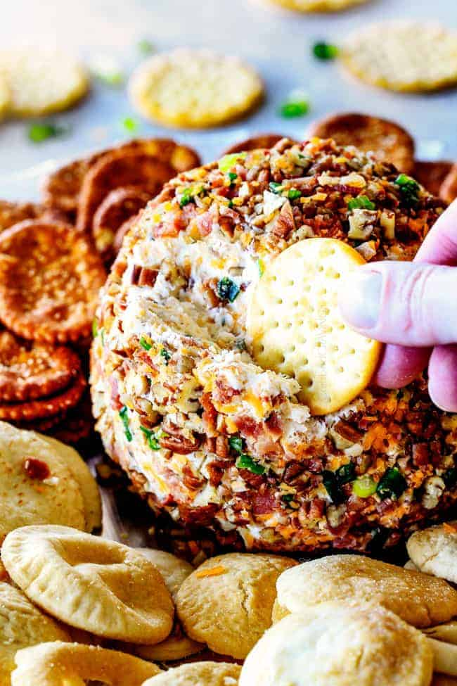 Best Ever Bacon Ranch Cheese Ball Video Make Ahead Stress Free