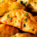 Chipotle Chicken Empanadas with Avocado Dip