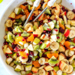 Winter Fruit Salad with Honey Lime Poppy Seed Dressing