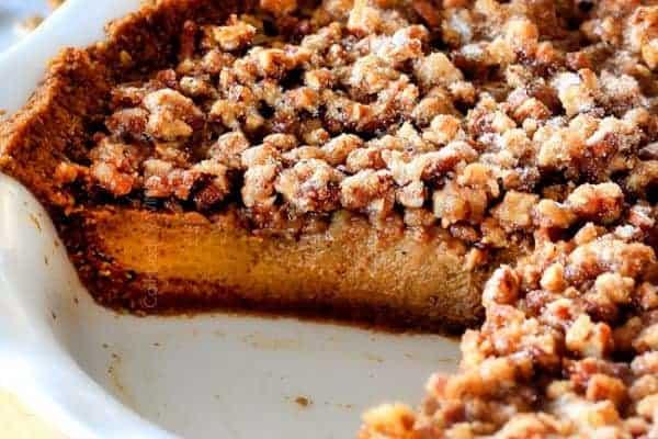 Prailine Pumpkin Pie