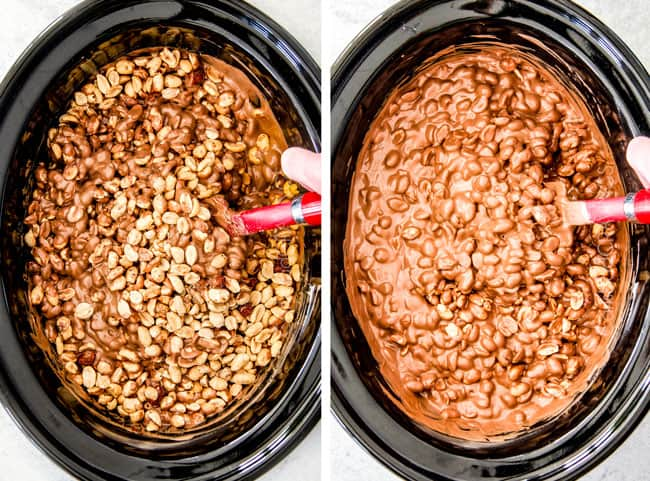 FOOL PROOF Crockpot Chocolate Peanut Clusters are not only crazy delicious but are SO easy!  They make the best make ahead, stress free gifts!  This post also includes tips and tricks to make them successful every time!