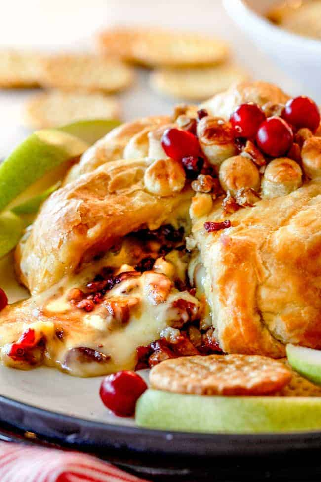 Rich and creamy Baked Brie in Puff Pastry is always a total luxuriously tasting crowd pleaser with minimal effort! (step by step pictures included) It can be prepped in advance then baked when you're ready for company!