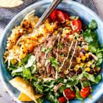 Barbacoa Beef Taco Bowls with Hash Browns & Avocado Ranch
